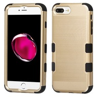 Military Grade Certified Brushed TUFF Hybrid Armor Case for iPhone 8 Plus / 7 Plus / 6S Plus / 6 Plus - Gold
