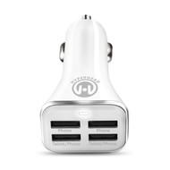 HyperGear High Power Quad USB 6.8A Car Charger - White
