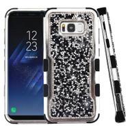 Military Grade Certified TUFF Vivid Mini Crystals Hybrid Armor Case for Samsung Galaxy S8 Plus - Black