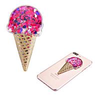 Adhesive Quicksand Glitter Sticker - Ice Cream Red