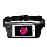 Sports Activity Fanny Waist Pack Pocket Belt with Clear Touchable Window - Black