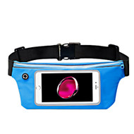 Sports Activity Fanny Waist Pack Pocket Belt with Clear Touchable Window - Blue
