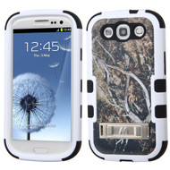 Military Grade Certified TUFF Image Hybrid Armor Case with Stand for Samsung Galaxy S3 - Tree Camouflage