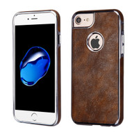 Luxury Leather Fusion Case for iPhone 8 / 7 / 6S / 6 - Brown