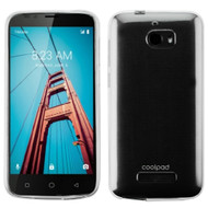 Rubberized Crystal Case for Coolpad Defiant - Clear