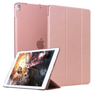 Smart Leather Hybrid Case with Translucent Back Cover and Screen Protector for iPad Pro 10.5 inch - Rose Gold