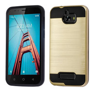 Brushed Hybrid Armor Case for Coolpad Defiant - Gold