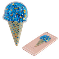 Adhesive Quicksand Glitter Sticker - Ice Cream Blue