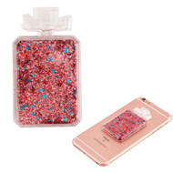 Adhesive Quicksand Glitter Sticker - Perfume Bottle Rose Gold