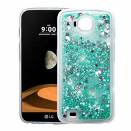 Quicksand Glitter Transparent Case for LG X Calibur / X Venture - Teal Green