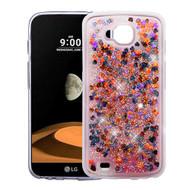 Quicksand Glitter Transparent Case for LG X Calibur / X Venture - Magenta