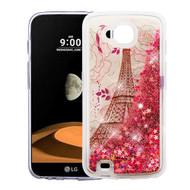 Quicksand Glitter Transparent Case for LG X Calibur / X Venture - Eiffel Tower