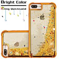 Confetti Quicksand Glitter Electroplating Transparent Case for iPhone 8 Plus / 7 Plus / 6S Plus / 6 Plus - Gold