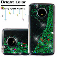 Quicksand Glitter Transparent Case for Motorola Moto E4 - Green