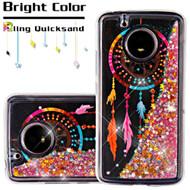 *SALE* Quicksand Glitter Transparent Case for Motorola Moto E4 - Dreamcatcher