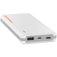 HyperGear USB-C + Quick Charge 3.0 Portable 12000mAh Power Bank Battery - White