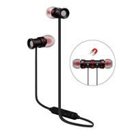 Magnetic Earbuds Bluetooth 4.1 Wireless Aluminum Alloy Headphones - Black