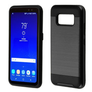 Brushed Hybrid Armor Case for Samsung Galaxy S8 Active - Black