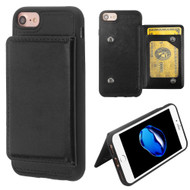 Pocket Wallet Case with Stand for iPhone 8 / 7 / 6S / 6 - Black