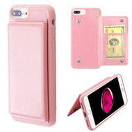 Pocket Wallet Case with Stand for iPhone 8 Plus / 7 Plus / 6S Plus / 6 Plus - Pink