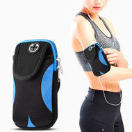 Universal Sports Neoprene Armband Pouch - Black Blue