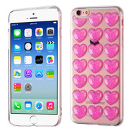 3D Heart Candy Case for iPhone 6 / 6S - Hot Pink