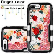 TUFF Quicksand Glitter Hybrid Armor Case for iPhone 8 Plus / 7 Plus / 6S Plus / 6 Plus - Roses
