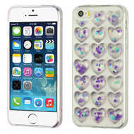 3D Heart Candy Case for iPhone SE / 5S / 5 - Purple