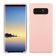Rubberized Crystal TPU Case for Samsung Galaxy Note 8 - Pink