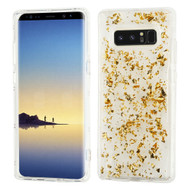 Krystal Gel Series Flakes Transparent TPU Case for Samsung Galaxy Note 8 - Gold