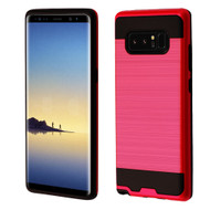 Brushed Hybrid Armor Case for Samsung Galaxy Note 8 - Red