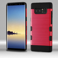 Military Grade Certified TUFF Trooper Dual Layer Hybrid Armor Case for Samsung Galaxy Note 8 - Red