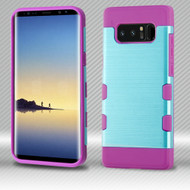Military Grade Certified TUFF Trooper Dual Layer Hybrid Armor Case for Samsung Galaxy Note 8 - Baby Blue Purple