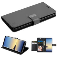 Essential Leather Wallet Stand Case for Samsung Galaxy Note 8 - Black