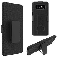 Kickstand Protective Case and Holster for Samsung Galaxy Note 8 - Black