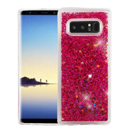Quicksand Glitter Transparent Case for Samsung Galaxy Note 8 - Hot Pink