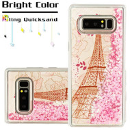 Quicksand Glitter Transparent Case for Samsung Galaxy Note 8 - Eiffel Tower