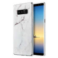 Marble TPU Case for Samsung Galaxy Note 8 - White