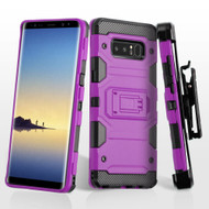 Military Grade Certified Storm Tank Hybrid Case with Holster and Screen Protector for Samsung Galaxy Note 8 - Purple
