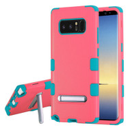 Military Grade Certified TUFF Hybrid Armor Case with Stand for Samsung Galaxy Note 8 - Pink Teal