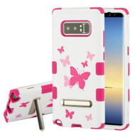 Military Grade Certified TUFF Image Hybrid Armor Case with Stand for Samsung Galaxy Note 8 - Butterfly Dancing