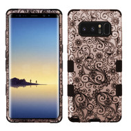Military Grade Certified TUFF Image Hybrid Armor Case for Samsung Galaxy Note 8 - Leaf Clover Rose Gold