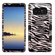 Military Grade Certified TUFF Image Hybrid Armor Case for Samsung Galaxy Note 8 - Zebra Rose Gold