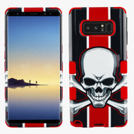 Military Grade Certified TUFF Image Hybrid Armor Case for Samsung Galaxy Note 8 - Union Jack Skull