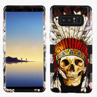 Military Grade Certified TUFF Image Hybrid Armor Case for Samsung Galaxy Note 8 - Dead Chief Skull