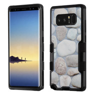 Military Grade Certified TUFF Image Hybrid Armor Case for Samsung Galaxy Note 8 - Rocky Pebbles