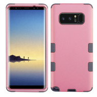 Military Grade Certified TUFF Hybrid Armor Case for Samsung Galaxy Note 8 - Pearl Pink Grey