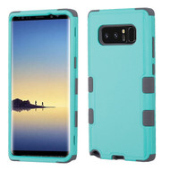 Military Grade Certified TUFF Hybrid Armor Case for Samsung Galaxy Note 8 - Teal Green Grey