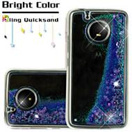 Quicksand Glitter Transparent Case for Motorola Moto E4 - Purple