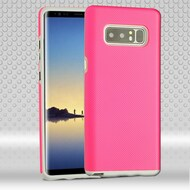 Haptic Football Textured Anti-Slip Hybrid Armor Case for Samsung Galaxy Note 8 - Hot Pink